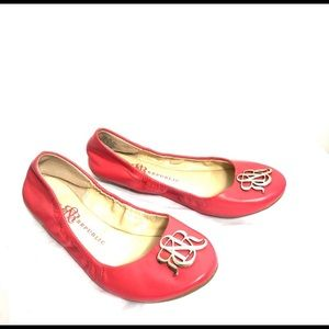 Rock & Republic Pink Coral stretch Ballerina Flats